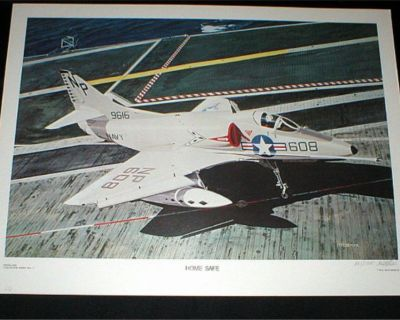 """""""HOME SAFE"""" US NAVY Aviation Art Print -Signed & Numbered by Hal McCormick"""