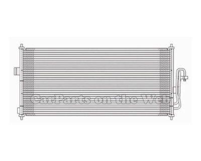 New 02-07 Buick Rendezvous Terraza 3.4l 3.5l A/c Condenser Assembly Cnddpi3050