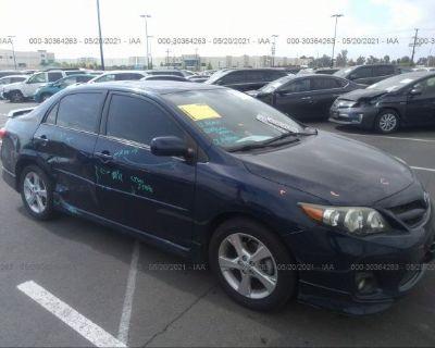 Salvage Blue 2012 Toyota Corolla