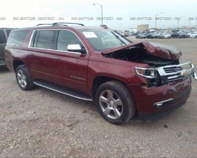Salvage Red 2017 Chevrolet Suburban