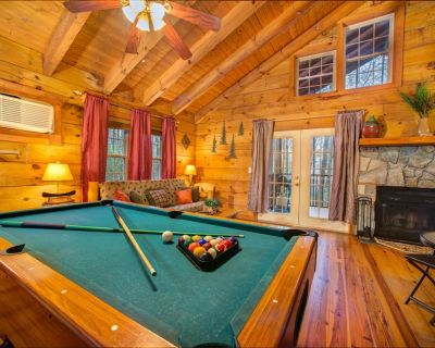 Dog-friendly log cabin w/private hot tub, in-room Jacuzzi, pool table, & more - Sautee Nacoochee