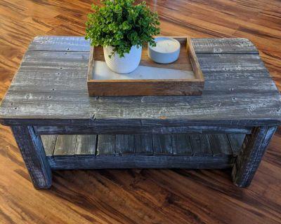 Barn wood like coffee table