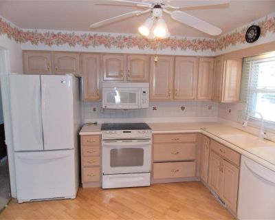Bleached Oak Kitchen Cabinets, All Appliances and Corian Counter Tops
