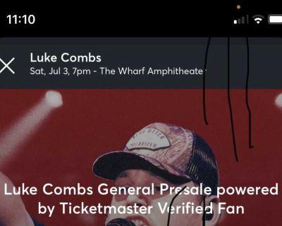 Luke combs tickets