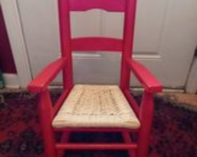 Red Child's Rocking Chair
