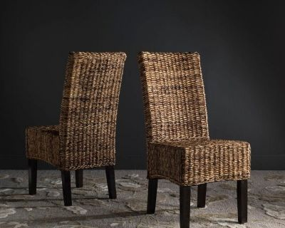 """18""""h Wicker Dining Chair Set of 2"""