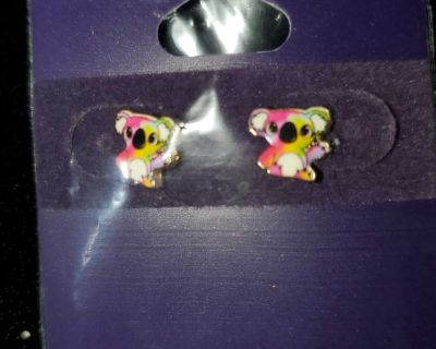 Claire's Koala 18 Carat Gold Plated Earrings