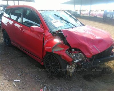 Salvage Red 2006 Toyota Matrix