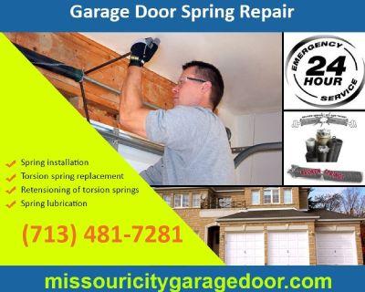 24/7 Emergency Garage Door Spring Repair ($25.95) Missouri City Houston, 77459 TX
