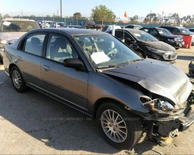 Salvage Gray 2005 Honda Civic Sdn