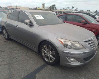 Salvage Gray 2013 Hyundai Genesis