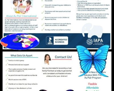 DISCOVER THE NEW SOLUTION TO CHILDCARE WITH THE AU PAIR PROGRAM