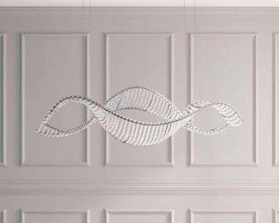 Buy Schonbek SRI400 Alon Led Horizontal Stainless Steel Pendant | Chandelier | Graysonluxury.com