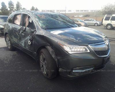 Salvage Gray 2014 Acura Mdx