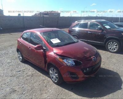 Salvage Red 2014 Mazda Mazda2