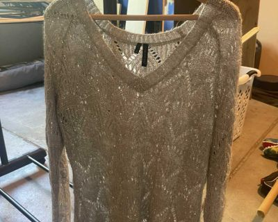 Maurice s Silver/Beaded Sweater