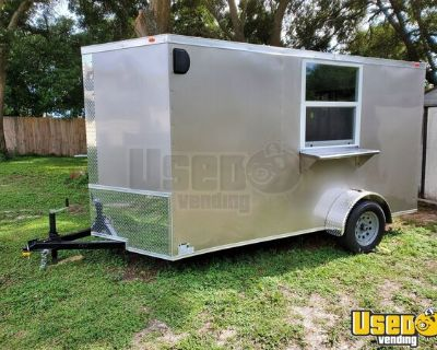 BRAND NEW 2021 Eagle Cargo 6' x 12' Food Trailer / Never Used Mobile Kitchen
