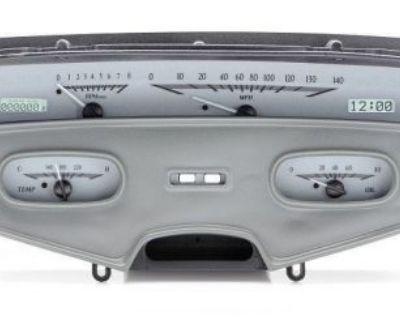1958 Impala Caprice Dash Gauge Silver White Dakota Digital Vhx-58c-imp-s-w