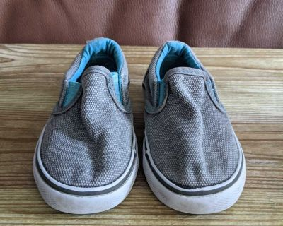 Toddler Gray Slip On Sneakers Size 6