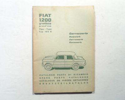 Fiat 1200 Granluce Type 103g Bodywork Spare Parts Catalog 110.209
