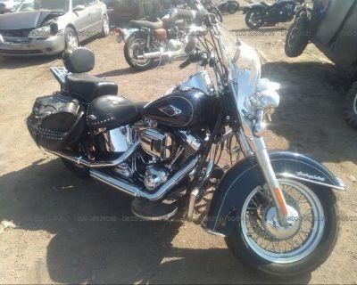 Salvage Dark Blue 2013 Harley-davidson Flstc