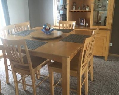 Dining Table w/6 chairs and China Cabinet