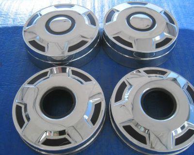 """1 Set Oem Ford F150 F250 F350 Dog Dish Hub Caps, Hubcap, 16"""" 16.5"""", Wheel Cover"""
