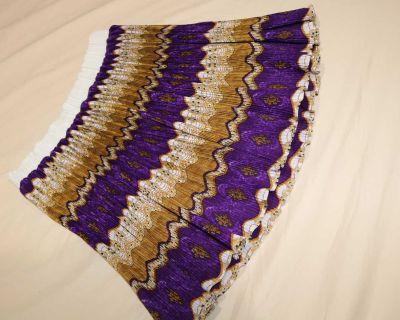 Pretty Flared Purple Skirt