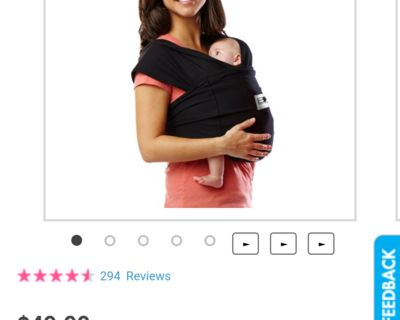 Baby k tan carrier sling wrap (washed never used) xs