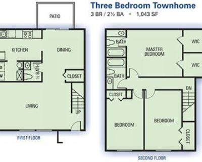Spacious Three Bedroom Townhome