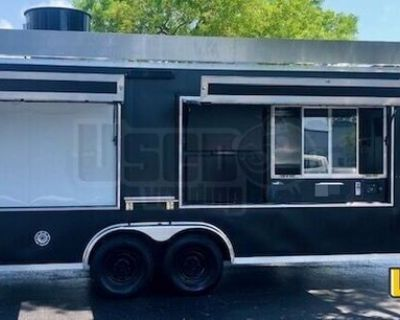 Well-Maintained 2019 - 8' x 25' Professional Kitchen Food Concession Trailer