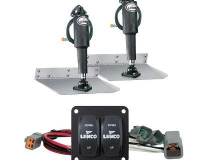 "Lenco 15103-104 12"" X 12"" Standard Trim Tab Kit W/double Rocker Switch Kit"