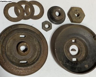 Nice early/mid 60 s generator pulley nut shims etc