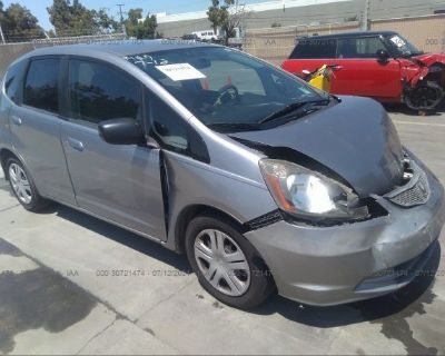 Salvage Silver 2010 Honda Fit
