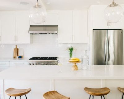 All White Kitchen With Chefs Stove. Perfect For The Up And Coming Chef Or Food Company Looking To Profile Their Cooking, Food Or Company, Redondo Beach, CA