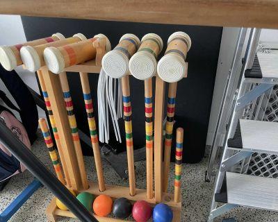 Croquet set is twice