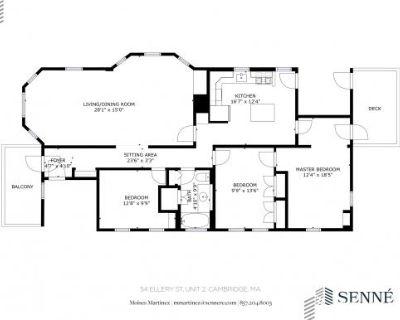 54 Ellery St Mid Cambridge, MA 3 Bedroom Condo Rental