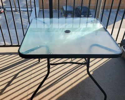Used Patio Table & 4 Chairs