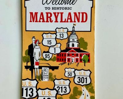 1960 Welcome to Historic Maryland Booklet