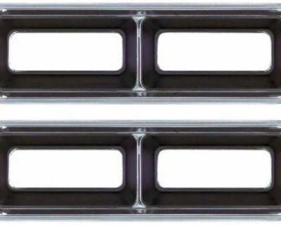 1968 Camaro Pair Lh / Rh Tail Lamp Light Bezels - New Oer