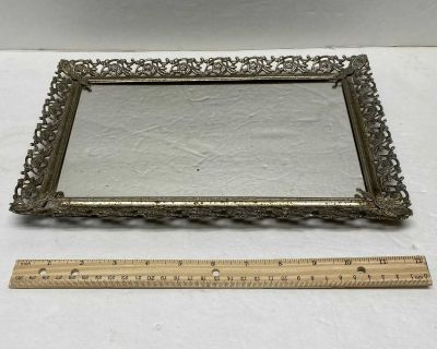 Vintage Mirrored Tray $2