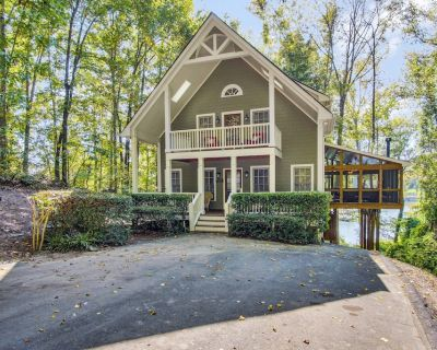 Luxury Lakefront Cabin - Large Outdoor Living Area, Hot Tub & Pool Table - Dawsonville