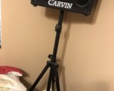Carvin speakers amp, and recording tape deck