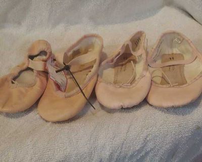 Size 11 and 11.5 ballet slippers nude