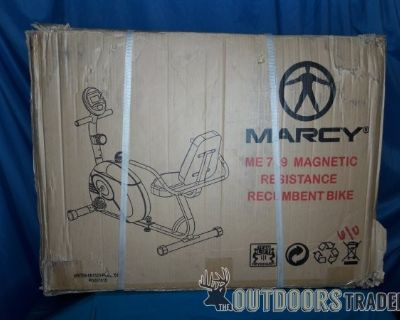 FS NEW, MARCY Magnetic Resistance Recumbent Bike, Model ME-709 (18605)