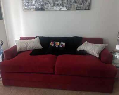 Red Lazboy Sleeper Sofabed
