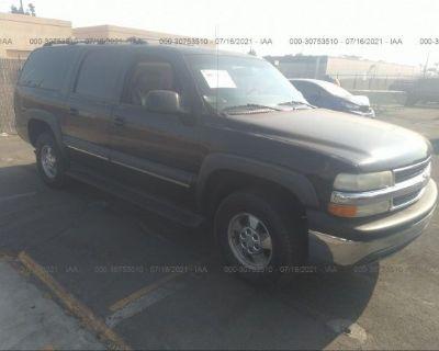 Salvage Black 2002 Chevrolet Suburban