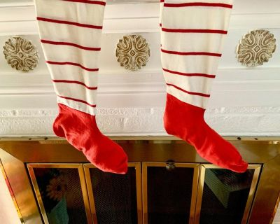 Vintage (60's) Candy Cane Stripe Christmas Stockings