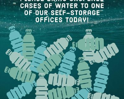 Water Donations Accepted Here