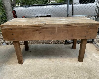 Large Heavy Wood Work Table. **Pickup West End